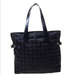 Black Chanel tote from travel collection